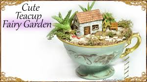 cute diy tea cup fairy garden miniature craft tutorial youtube