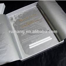 wholesale top grade luxury wedding card invitation acrylic glass