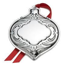 wallace silver engravable ornament bauble 2016