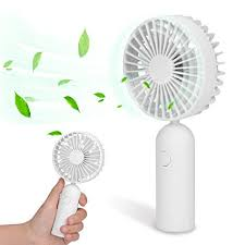 battery operated handheld fan mini rechargeable handheld fan 3 speeds 2200mah