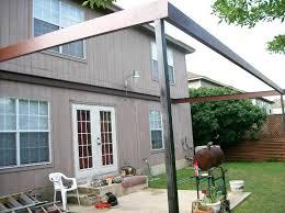 Pergola With Awning by Pergola With Corrugated Metal Roof Backyard Idea Mason Jar Lights