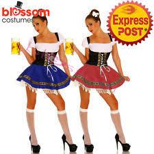 Beer Maid Wench Costume Oktoberfest Couple Gretchen German Fancy by Unbranded Oktoberfest Costumes Ebay