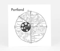 Map Downtown Portland by Archie U0027s Press Circle Map Of Portland At Buyolympia Com