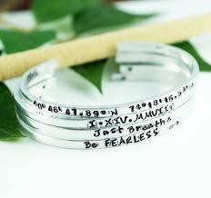 Personalized Cuff Bracelet Hand Stamped Cuff Bracelets Annie Reh Designs