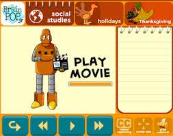 lpcomputerlab grade 2 brainpop jr thanksgiving