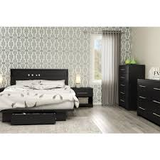 Queen Storage Beds With Drawers South Shore Primo Pure Black Queen Storage Bed 3307a1 The Home Depot