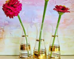 Miniature Flower Vases Retro Glass Vase Etsy