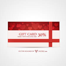 30 discount valentines day gift card design free vector