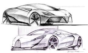 drawn ferrari modified car pencil and in color drawn ferrari