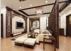 Orientalstencilfeaturewallmonochromelivingchinajpeg - Chinese interior design ideas