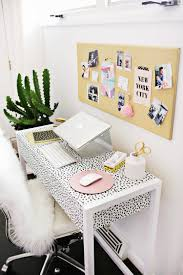 Feminine Desk Accessories by Dalmatian Print Desk Home Office Interiors Pinterest