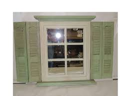 homco home interior shutter mirror window green homco home interior