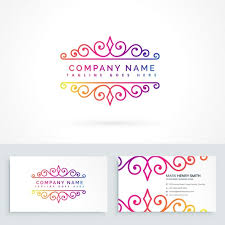 logo with ornaments vector free