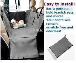 2017 new pet dog car seat cover waterproof hammock grey purple