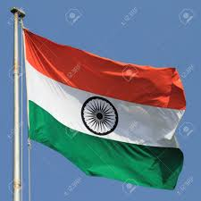 Flag If India Flag Of India With Flag Pole Waving In The Wind Over Blue Sky