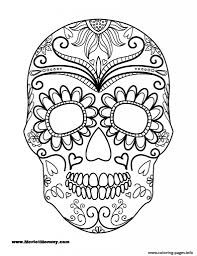 halloween coloring page sugar skull coloring pages printable