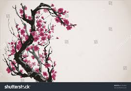 japanese style vector image japanese style blooming bright stock vector 81764452