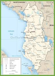 Physiographic Map Of The United States by Albania Maps Maps Of Albania