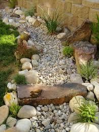 creating dry river bed landscape rock garden design ideas dry