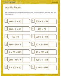 add up places u2013 free worksheet on place value u2013 math blaster