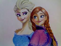 drawing queen elsa princess anna frozen luminikapf