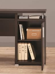 Contemporary Computer Desk Brown Wood Computer Desk Steal A Sofa Furniture Outlet Los