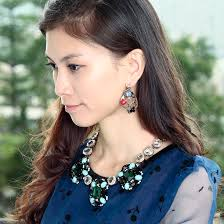 earring girl beautiful leaf earrings earring fashion girl jewelry