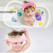 baby shower caps useful baby shower cap children shoo bath wash hair shield hat