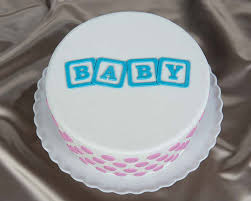 BABY Blocks lay 3D Stencil for Cake Decorating & Arts & Crafts