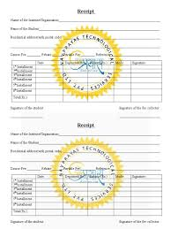 templates of receipts download tuition fee receipt template in word format
