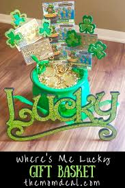chagne gift baskets where s me lucky st s day gift basket basket ideas
