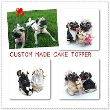 madamepommcustomorder custom made dog wedding cake topper