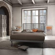 Platform Bed Canada Amisco Theodore Modern Queen Metal Platform Bed Magnetite Beds