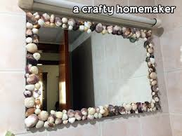 diy mirror makeover u2013 seashells mirror u2013 a crafty homemaker