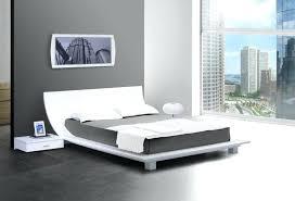 headboard with side tables minimalist wood king platform bed frame
