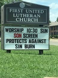 Church Sign Meme - son screen and sin burn christian church sign meme sinburn