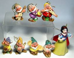 snow white and seven dwarfs instruments ornament set from our