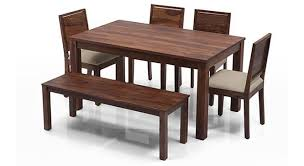 6 seater dining table and chairs arabia oribi 6 seater dining table set with bench urban ladder