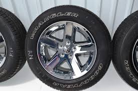 Truck Wheel And Tire Packages Dodge Ram 1500 20 Inch Chrome Clad Oem Factory Rims Tire Package