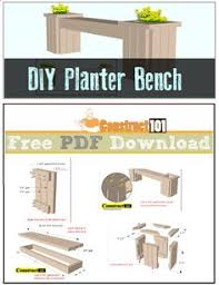 Wood Planter Bench Plans Free by Storage Bench Plans Pdf Download Bench Plans Storage Benches