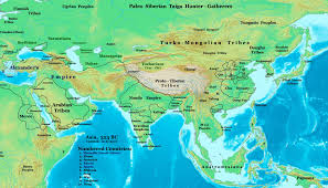 Asia Map With Country Names by Ev13 From Central Asia