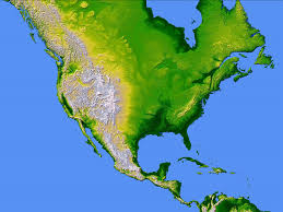 United States Topographical Map by North America Large