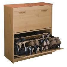 Oak Shoe Storage Cabinet Venture Horizon Double Level Shoe Storage Cabinet Walmart Com