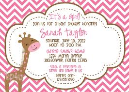 giraffe its a baby shower invitations set of 12