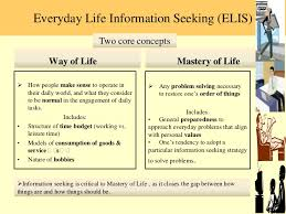 Seeking Where The Things Are Everyday Lifeinformationseeking
