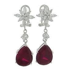 ruby drop earrings cheap ruby drop earrings find ruby drop earrings deals on
