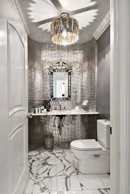 glam bathroom ideas silver bathroom glamorous bathroom with marble and silver mosaic