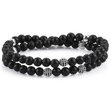 double beaded bracelet images Mens designer handmade beaded bracelets atolyestone jewellers jpg