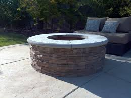 Fire Pit Grill Insert by How To Build A Fire Pit With Stone Veneer Facing Diy Add A Bbq