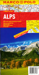 The Alps On World Map by Marco Polo Map Alps Marco Polo Search By Publisher Online